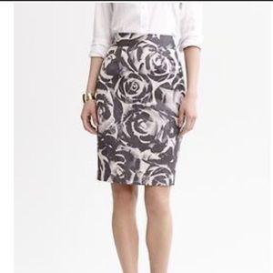 Banana Republic Floral Pencil Skirt Plus Size